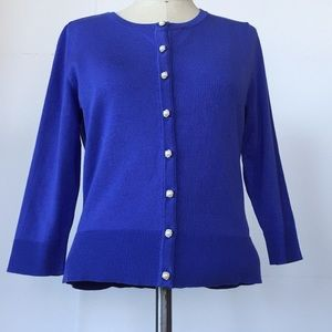 NWT Periwinkle Cardigan, Pearl Buttons